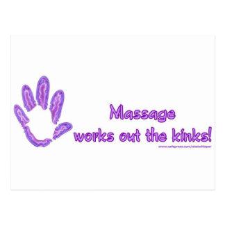 Massage Works Out the Kinks Postcard