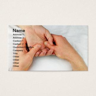 Massaging a Palm Business Card