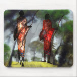Massai in morning haze mouse pad