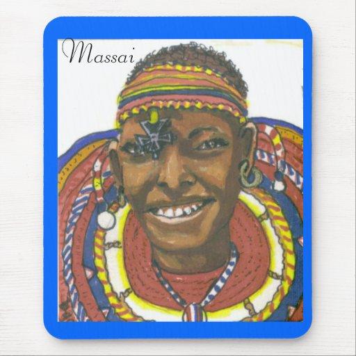 Massai Woman from Kenya Mouse Pad