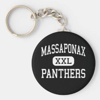 Massaponax - panteras - alto - Fredericksburg Llavero Redondo Tipo Pin
