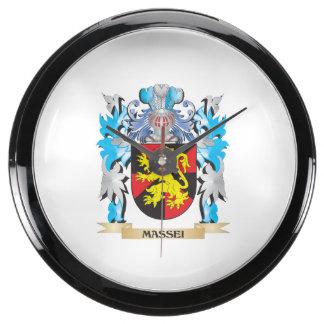 Massei Coat of Arms - Family Crest Fish Tank Clock