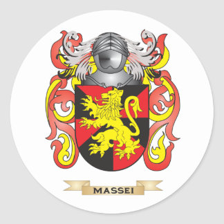Massei Coat of Arms (Family Crest) Round Stickers
