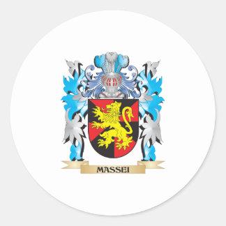 Massei Coat of Arms - Family Crest Round Sticker