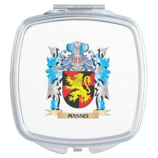 Massei Coat of Arms - Family Crest Travel Mirror