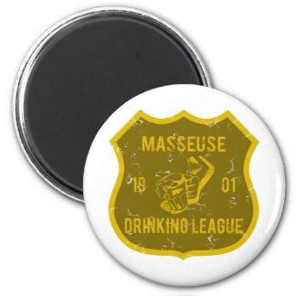 Masseuse Drinking League Refrigerator Magnets