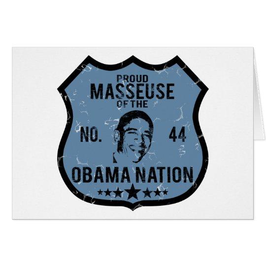 Masseuse Obama Nation Card