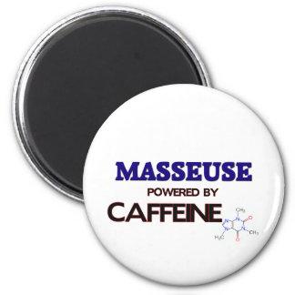 Masseuse Powered by caffeine Refrigerator Magnets