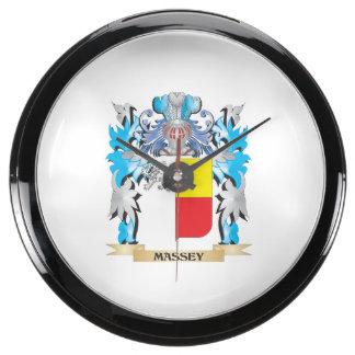 Massey Coat of Arms - Family Crest Aquarium Clocks