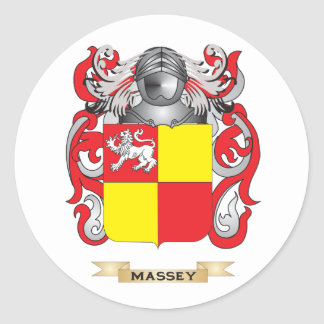 Massey Coat of Arms (Family Crest) Round Stickers