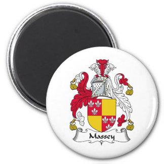 Massey Family Crest 2 Inch Round Magnet