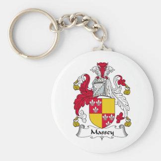 Massey Family Crest Basic Round Button Keychain