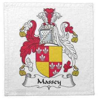 Massey Family Crest Printed Napkins