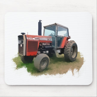 Massey Ferguson Red Tractor in the Field Mouse Pad