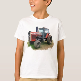 Massey Ferguson Red Tractor in the Field T-Shirt