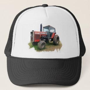 ce2ba8dad3e Massey Ferguson Red Tractor in the Field Trucker Hat