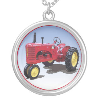 Massey Harris Model 22 Silver Plated Necklace