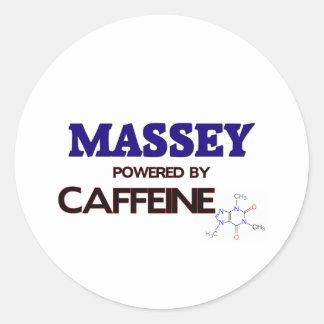 Massey powered by caffeine stickers