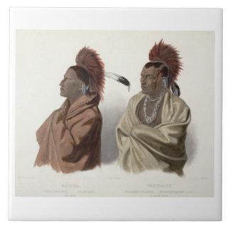 Massika, indio de Saki, y Wakusasse, un Musquake Tejas Cerámicas