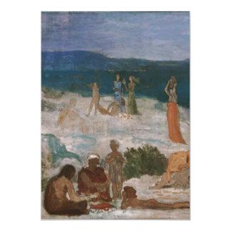 Massilia, Greek Colony by Puvis de Chavannes 5x7 Paper Invitation Card