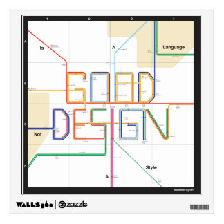 Massimo Vignell Design Quote Room Decal