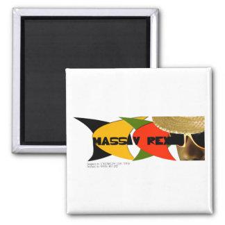 MASSIV REX style 2 Inch Square Magnet