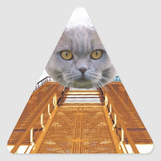 Massive Cat Triangle Sticker