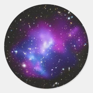 Massive Galaxy Cluster MACS J0717 Classic Round Sticker
