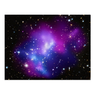 Massive Galaxy Cluster MACS J0717 Postcard