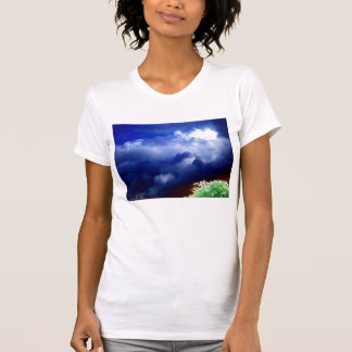 Massive Luminous Blue Storm and Glowing Treetop by Shirt