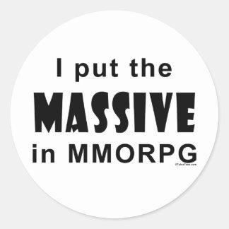 Massive MMORPG Classic Round Sticker