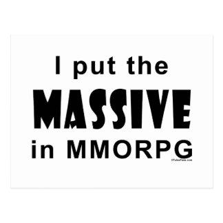 Massive MMORPG Postcard