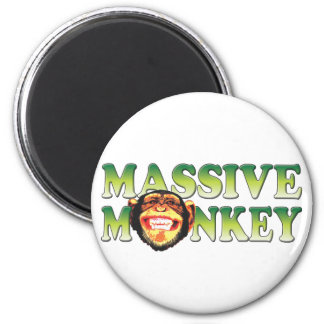 Massive Monkey 2 Inch Round Magnet