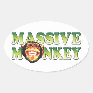 Massive Monkey Oval Stickers