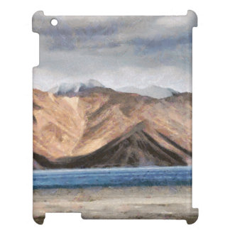 Massive mountains and a beautiful lake cover for the iPad 2 3 4