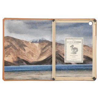 Massive mountains and a beautiful lake iPad air covers
