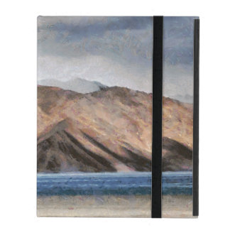 Massive mountains and a beautiful lake iPad case