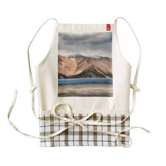 Massive mountains and a beautiful lake zazzle HEART apron