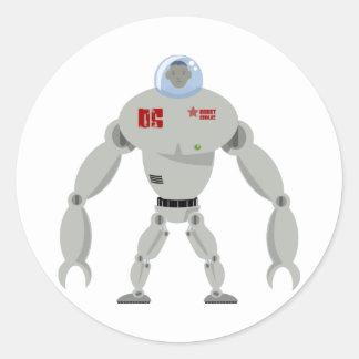 Massive Robot Classic Round Sticker