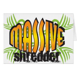 Massive Shredder notecards Card