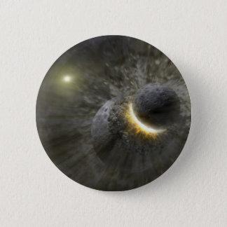 Massive smash up in Vega NASA Pinback Button