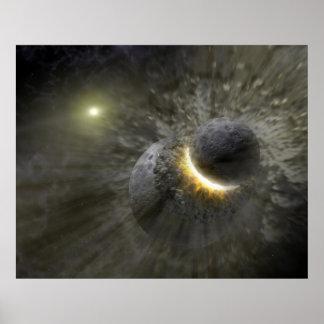 Massive smash up in Vega NASA Poster