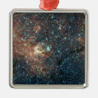 Massive Star Cluster Square Metal Christmas Ornament