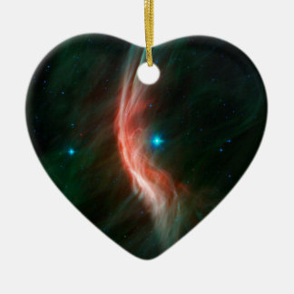 Massive Star Makes Waves Double-Sided Heart Ceramic Christmas Ornament