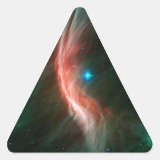 Massive Star Makes Waves Triangle Sticker