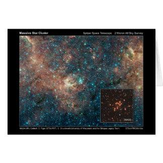 Massive Start Cluster – Spitzer Space Telescope –  Card