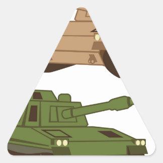 Massive Tank Triangle Sticker