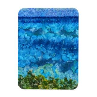 Massive wall of water rushing in rectangular photo magnet