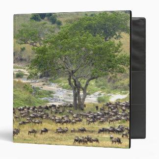 Massive Wildebeest herd during migration, Vinyl Binder