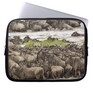 Massive Wildebeest herd during migration, Laptop Sleeve